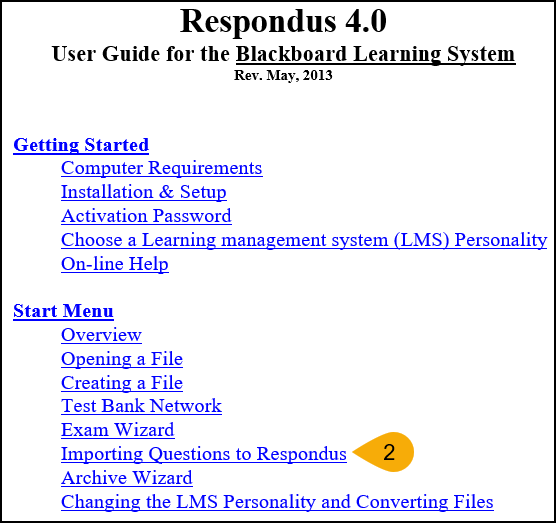 Screenshot of Accessing Formatting Guidelines Step 2