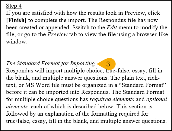 Screenshot of Accessing Formatting Guidelines Step 3